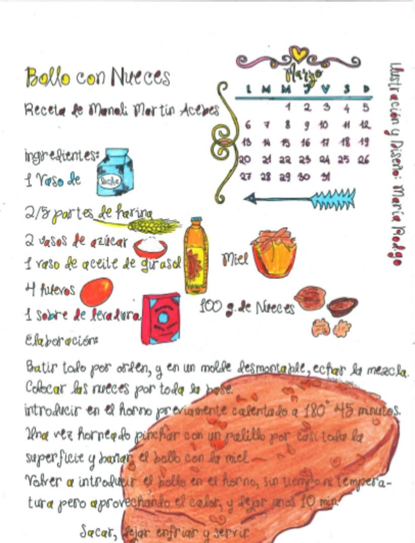 Calendario Dulce 2017 con Recetas Ilustradas. María Rod.go & Company... 3