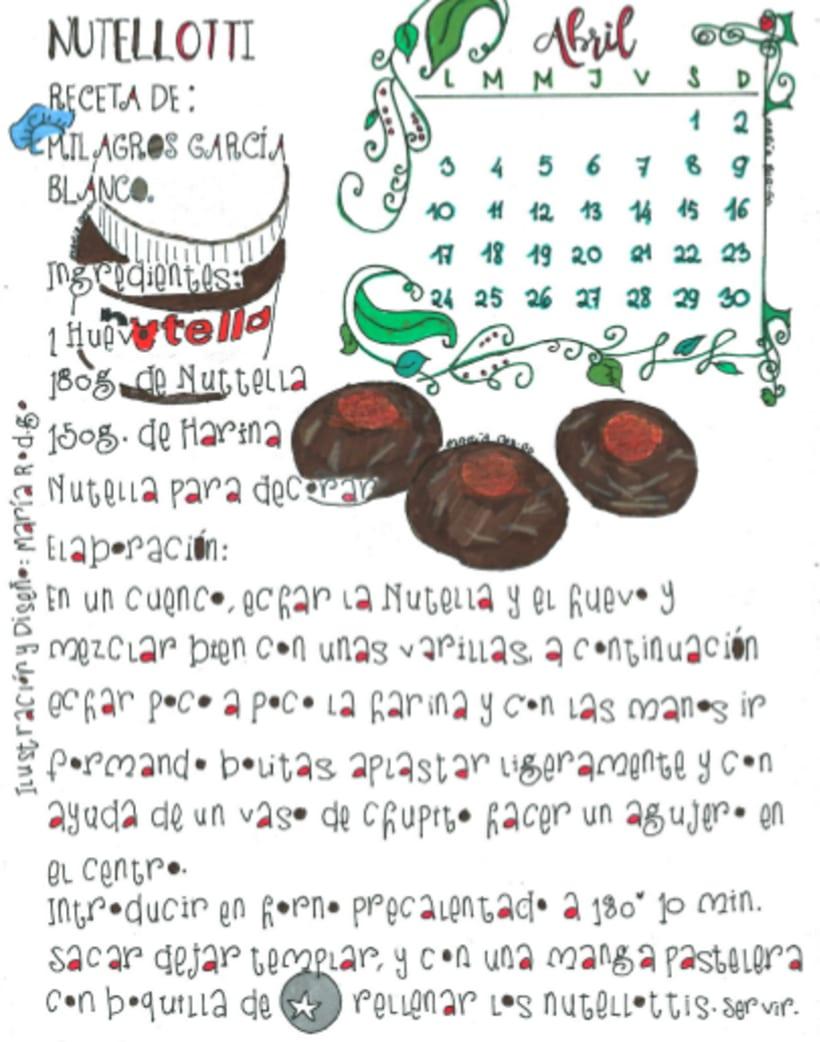 Calendario Dulce 2017 con Recetas Ilustradas. María Rod.go & Company... 4