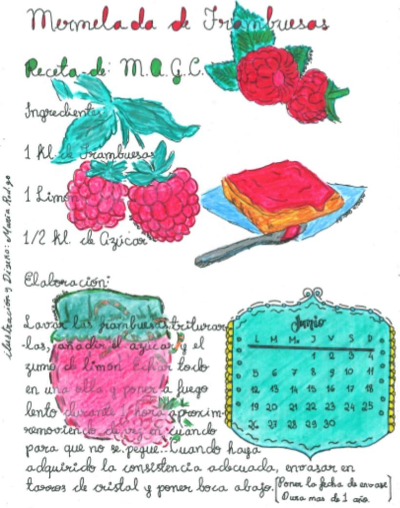 Calendario Dulce 2017 con Recetas Ilustradas. María Rod.go & Company... 6