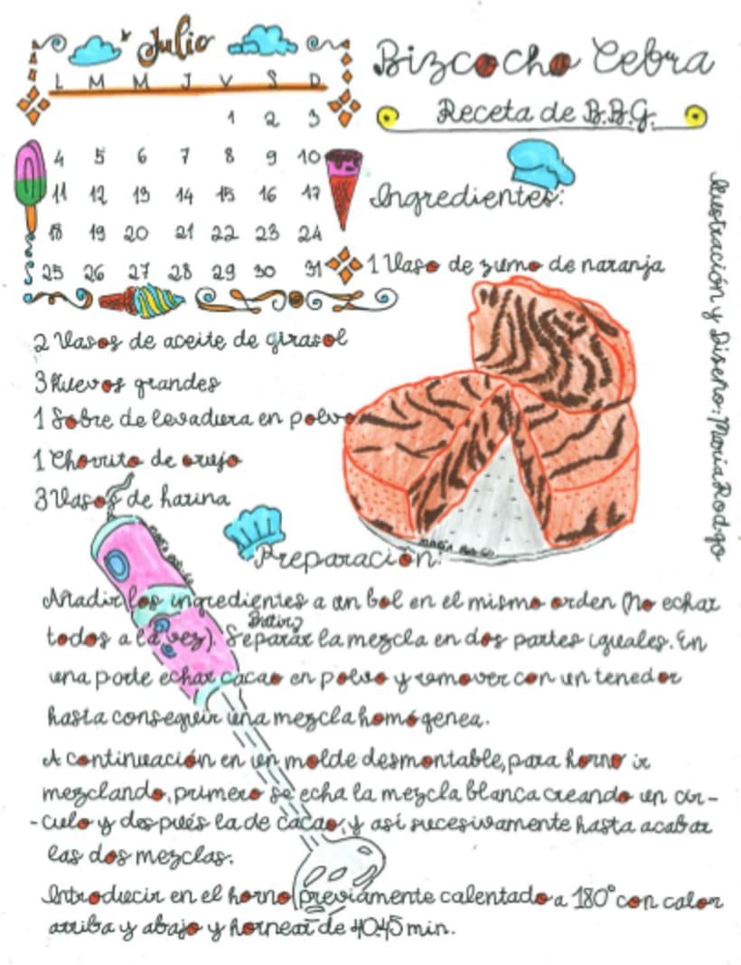 Calendario Dulce 2017 con Recetas Ilustradas. María Rod.go & Company... 7
