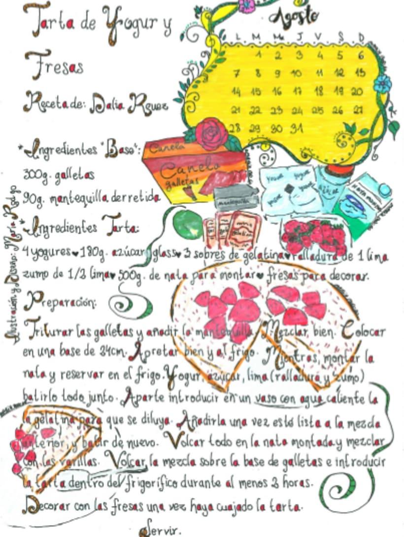 Calendario Dulce 2017 con Recetas Ilustradas. María Rod.go & Company... 8