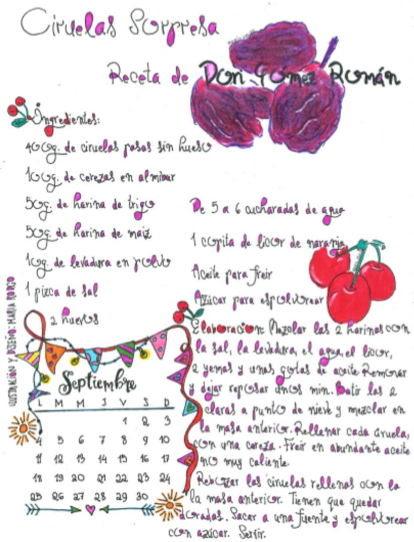 Calendario Dulce 2017 con Recetas Ilustradas. María Rod.go & Company... 9