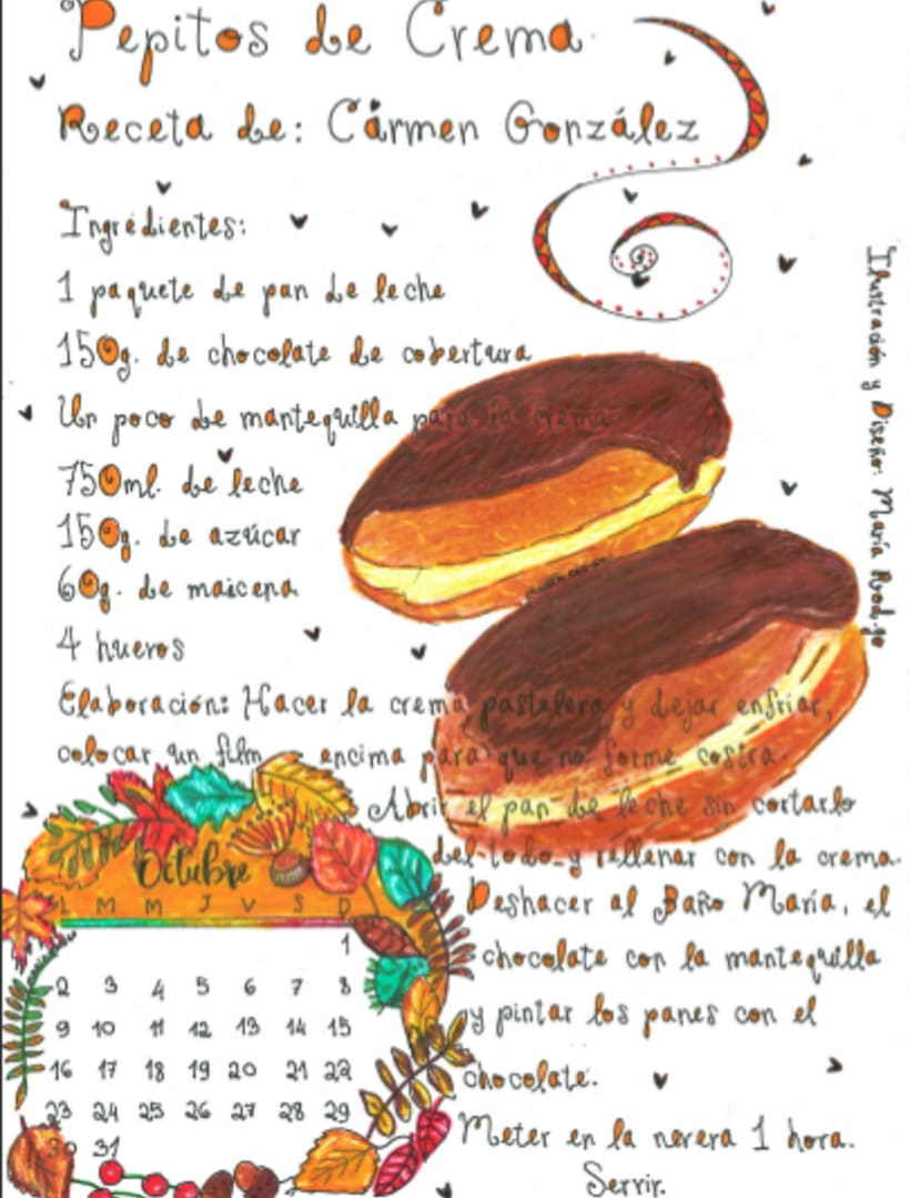 Calendario Dulce 2017 con Recetas Ilustradas. María Rod.go & Company... 10
