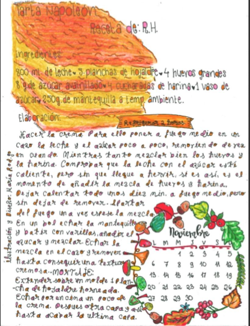 Calendario Dulce 2017 con Recetas Ilustradas. María Rod.go & Company... 11