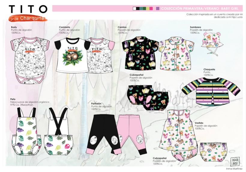 """Colección moda baby girl : Inspirada en un cuento """"TITO y la Charquita"""" creado por mi. 3"""