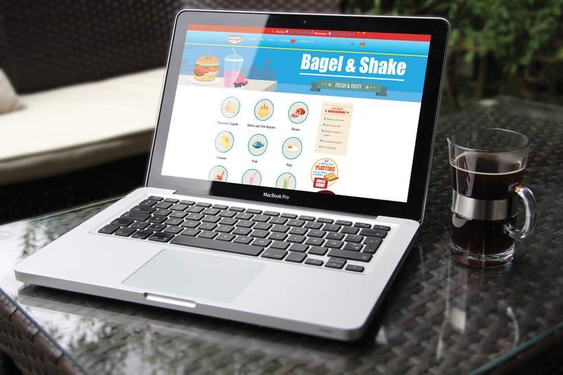 Bagel&Shake - Diseño gráfico, illustración y gestión de contenidos web 0