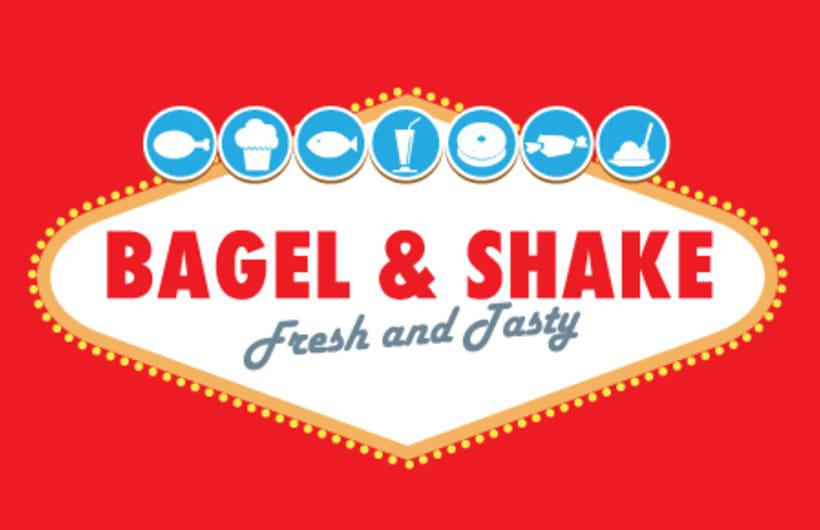 Bagel&Shake - Diseño gráfico, illustración y gestión de contenidos web 1