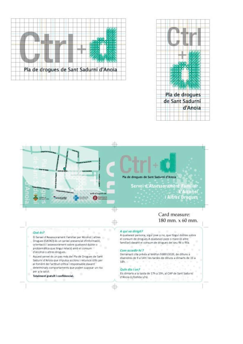 Logo, tarjeta y póster para campaña control de drogas de Sant Sadurní d'Anoia -1