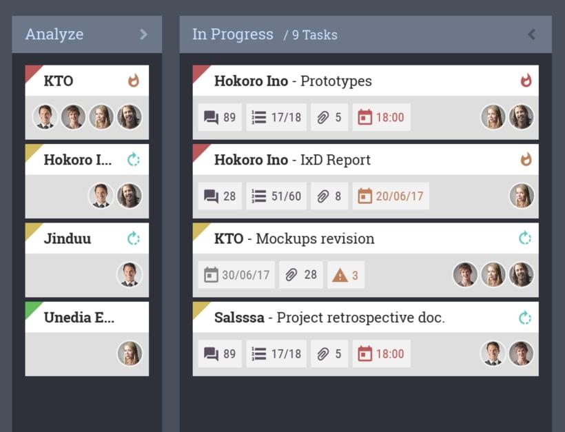 KBTool - Customizable Kanban App - Design Concept W.I.P. 2