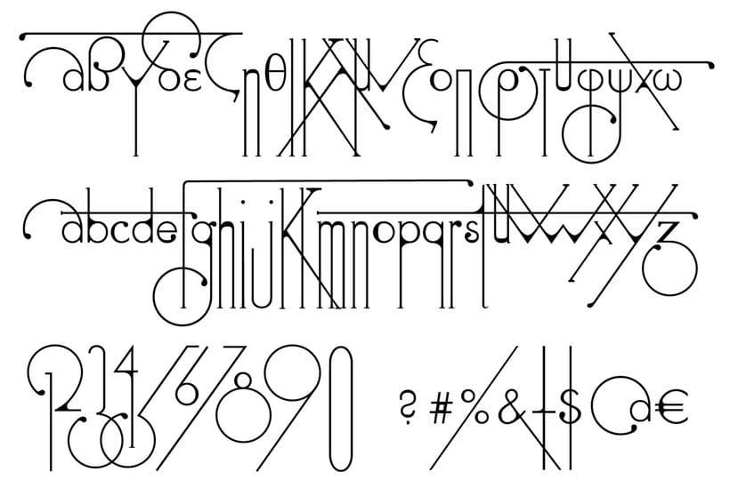 Futuracha, una tipografía que cambia mientras escribes 1