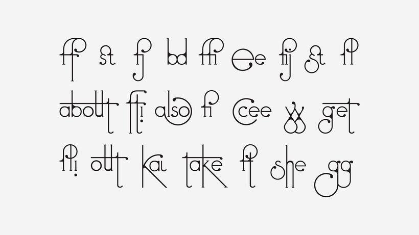 Futuracha, una tipografía que cambia mientras escribes 3