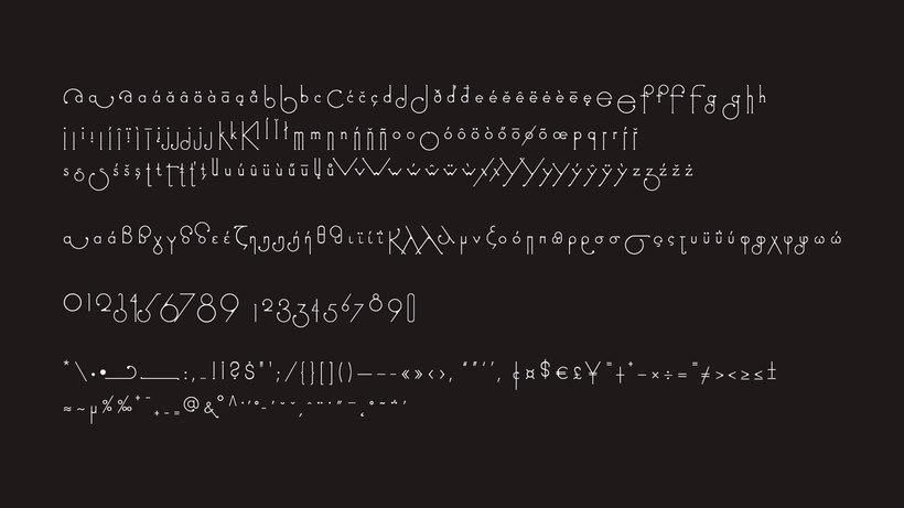 Futuracha, una tipografía que cambia mientras escribes 9