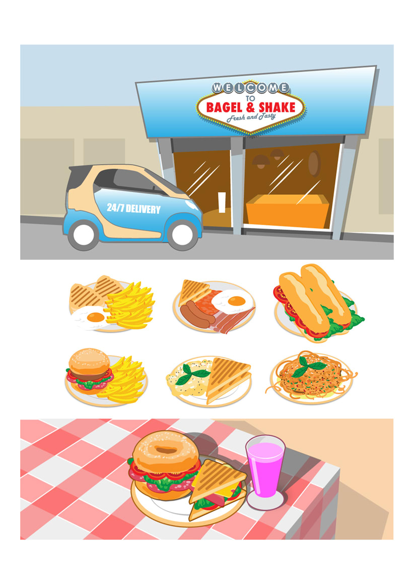 Bagel&Shake - Diseño gráfico, illustración y gestión de contenidos web 3