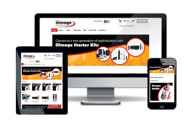 iiimage Electronic Cigarettes - Branding, diseño y illustración para web y impresión, incluyendo folletos, tarjetas de visita, embalaje. -1