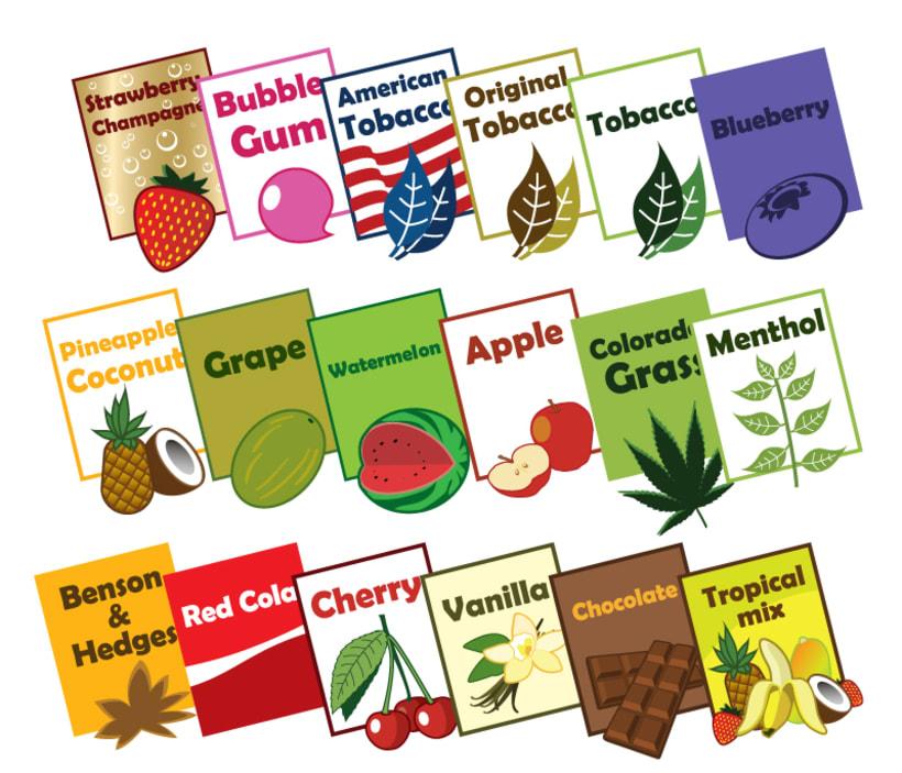 iiimage Electronic Cigarettes - Branding, diseño y illustración para web y impresión, incluyendo folletos, tarjetas de visita, embalaje. 1