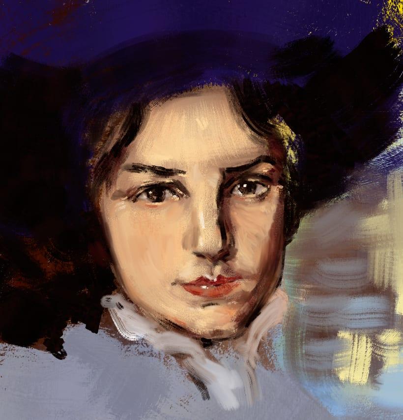 Pintura digital (buscando mi toque); pinturas digitales para alcanzar un aspecto de oleo y pintura tradicional. 1