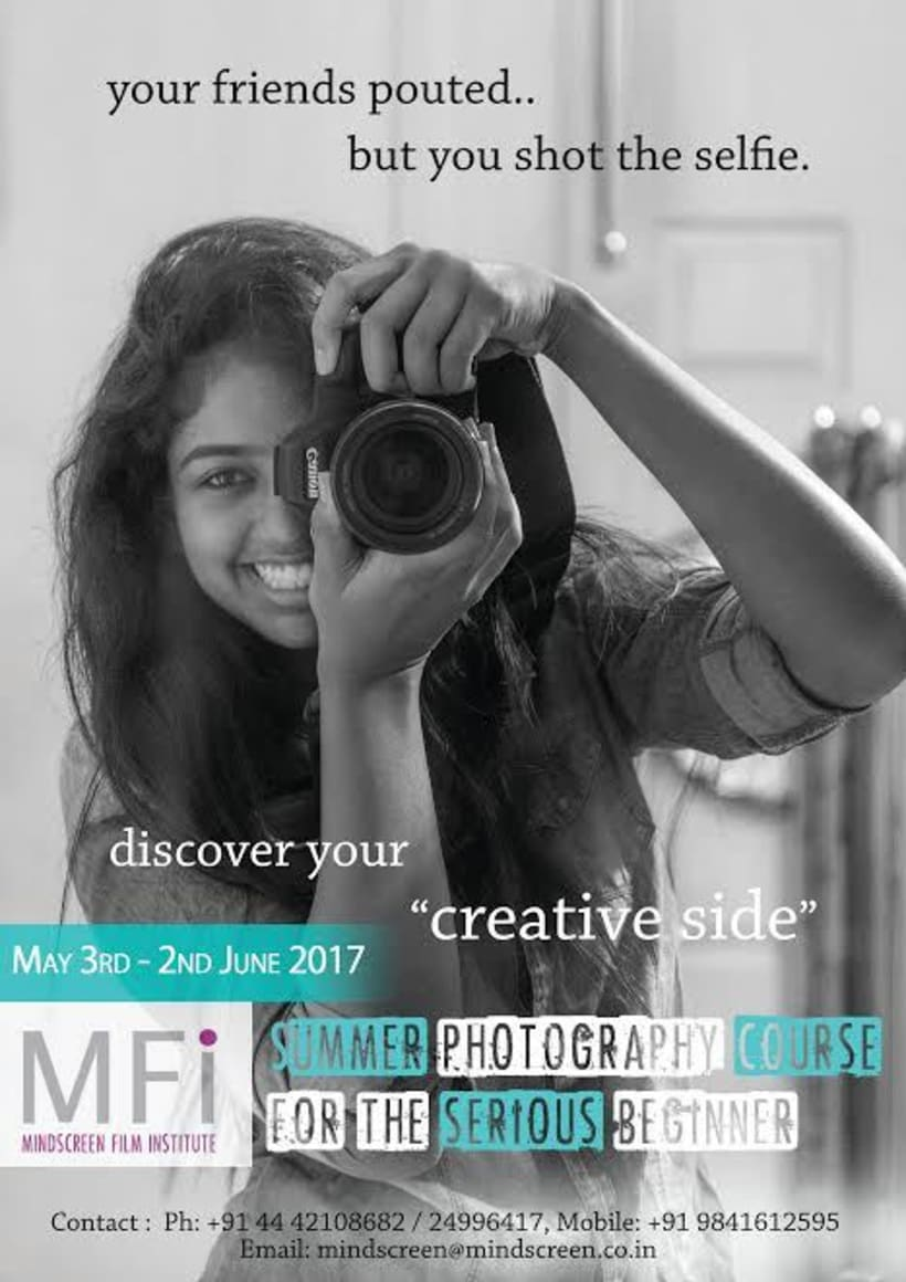 4-Week Summer Photography course  (3rd May to 2nd June 2017) 1