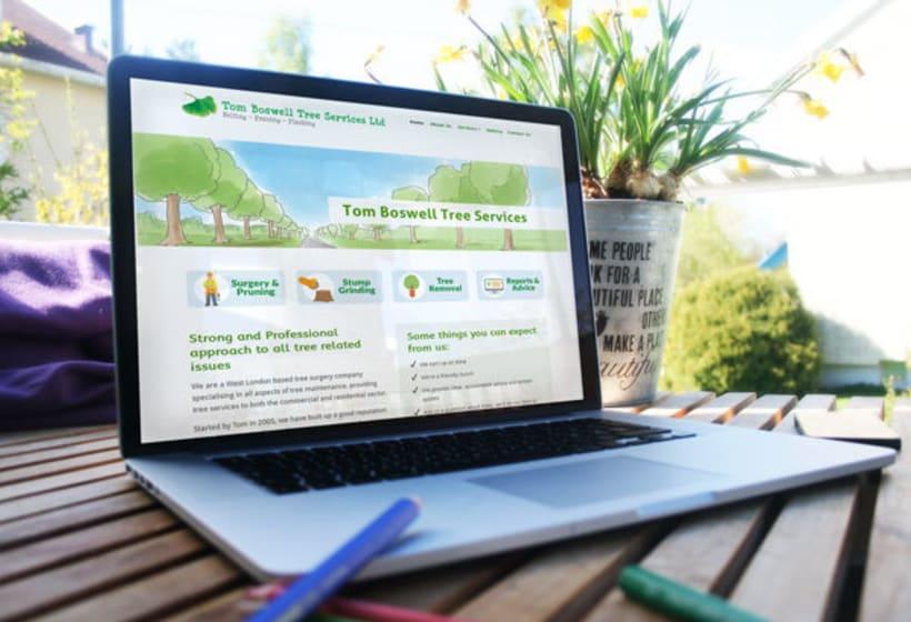 Tom Boswell Tree Services - Diseño web, ilustración, gestión y creación de contenidos. 0