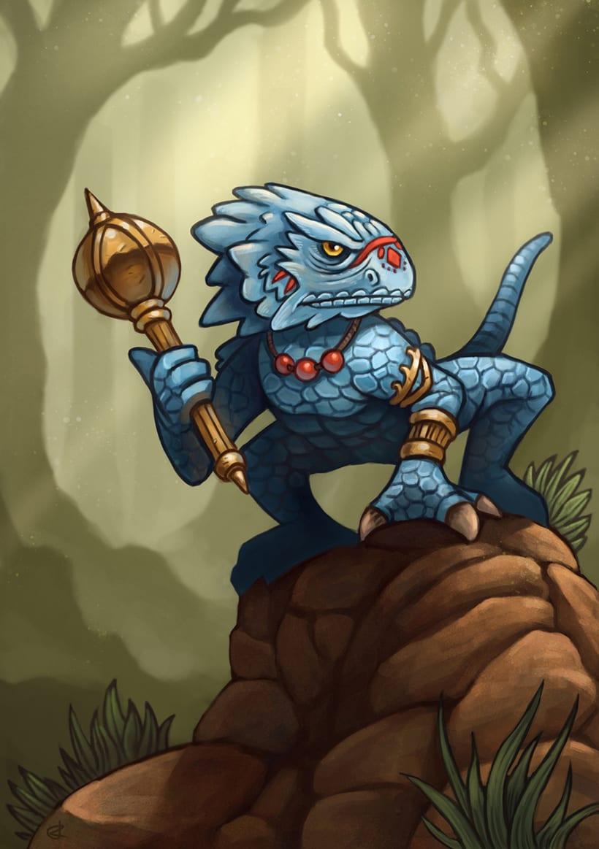 Ilustración hombre lagarto -1