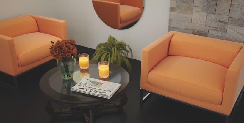 """""""Naranjas"""" Archviz Interior 1"""