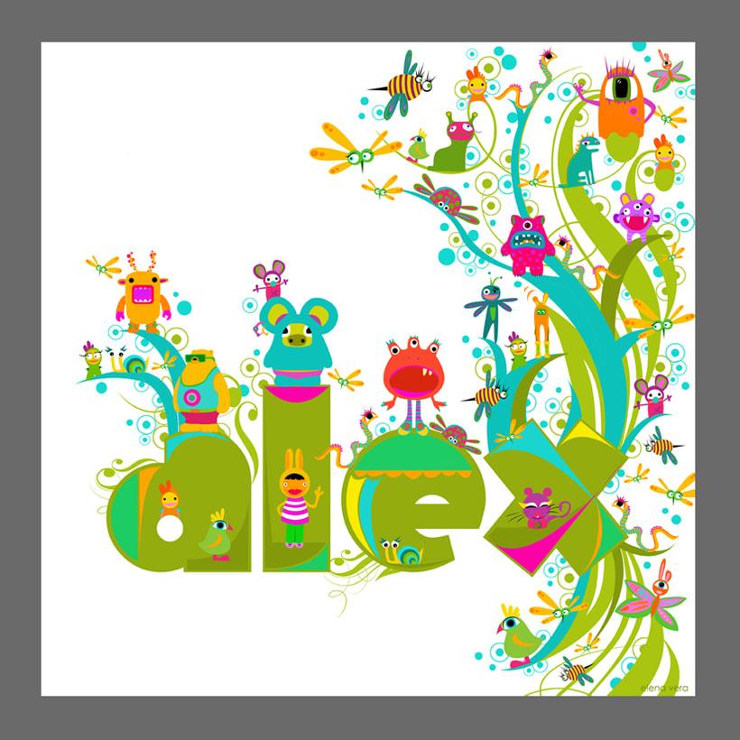 nombres ilustrados para niñ@s 20