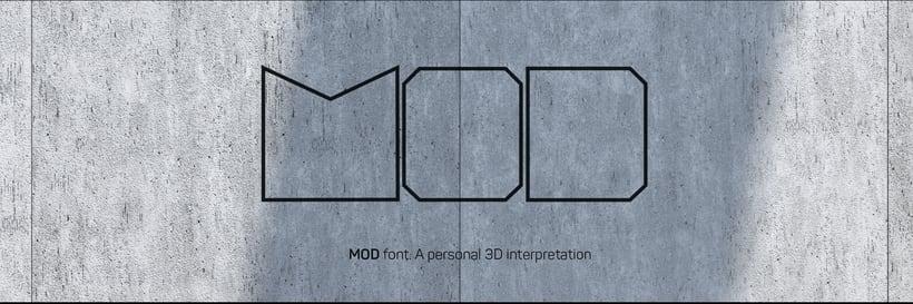 - MOD font - 0