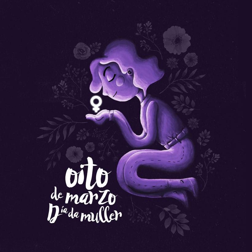 #oitodemarzo - Ilustración para el día de la mujer 1