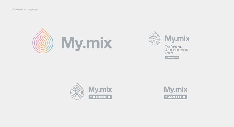 "Branding and packaging - ""My mix"" cosmetic line. 1"