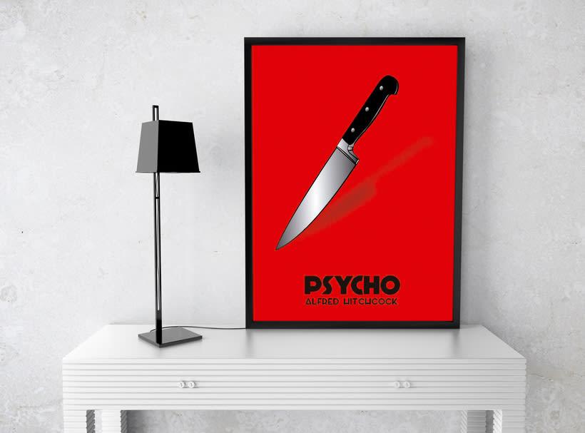 Cartel película Psycho -1