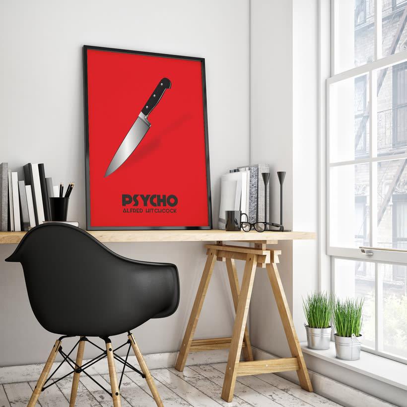 Cartel película Psycho 0