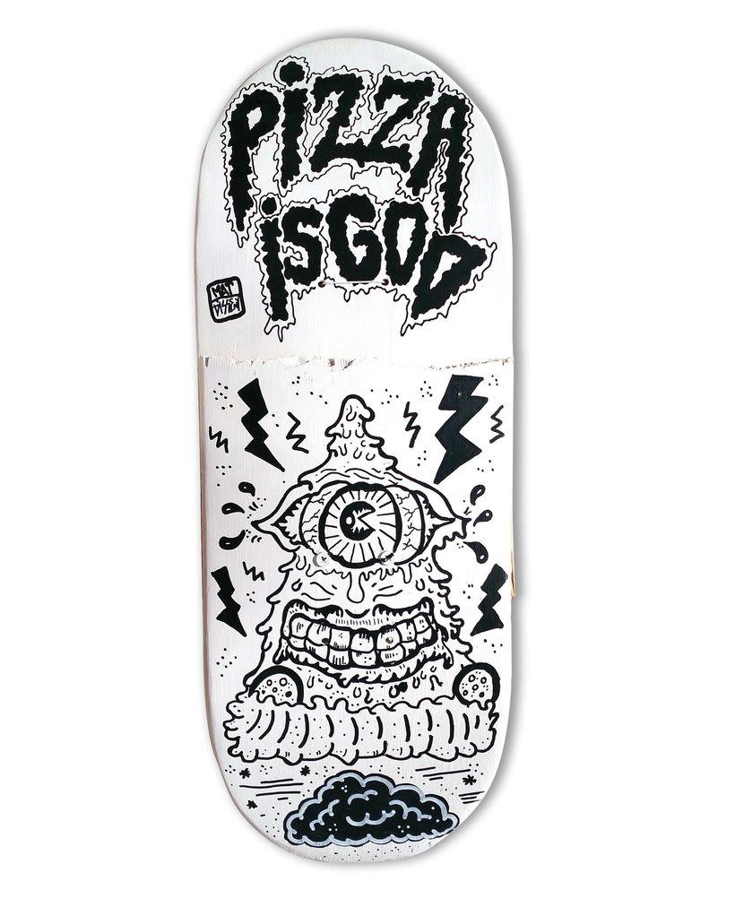 Skateboard • Pizza is God #SkateArt -1