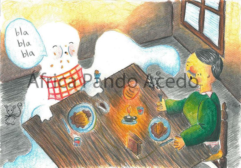 """Ilustraciones para """"Fantasmagoría"""" Lewis Carrol 2"""