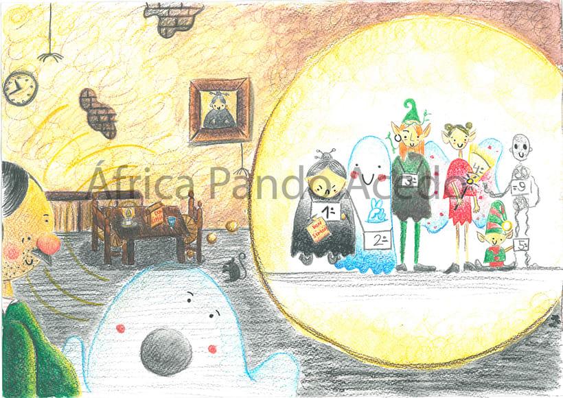 """Ilustraciones para """"Fantasmagoría"""" Lewis Carrol 1"""
