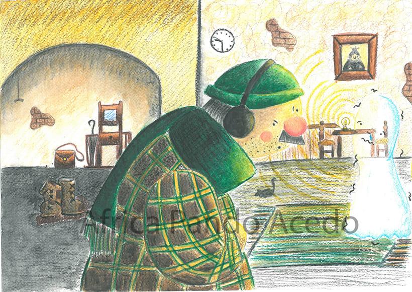 """Ilustraciones para """"Fantasmagoría"""" Lewis Carrol 0"""