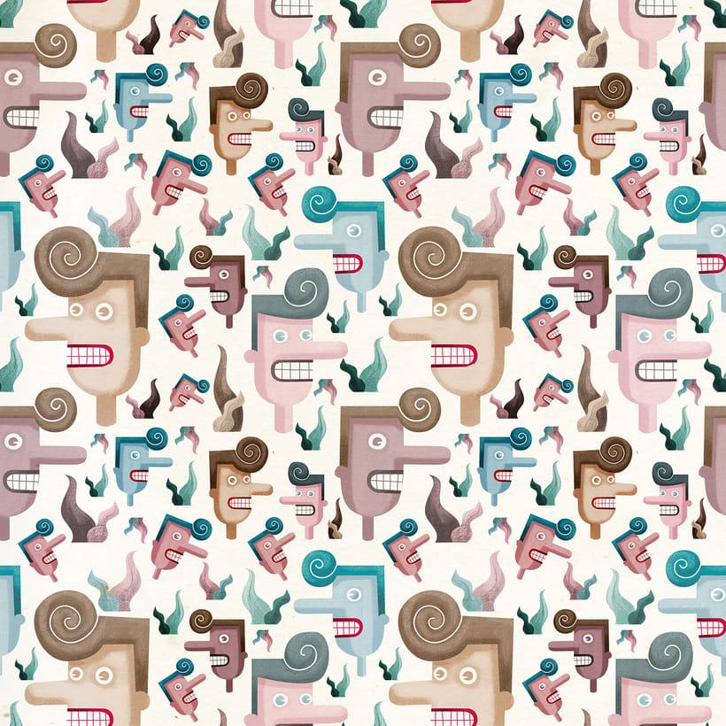 Diseño de pattern ilustrado. 0