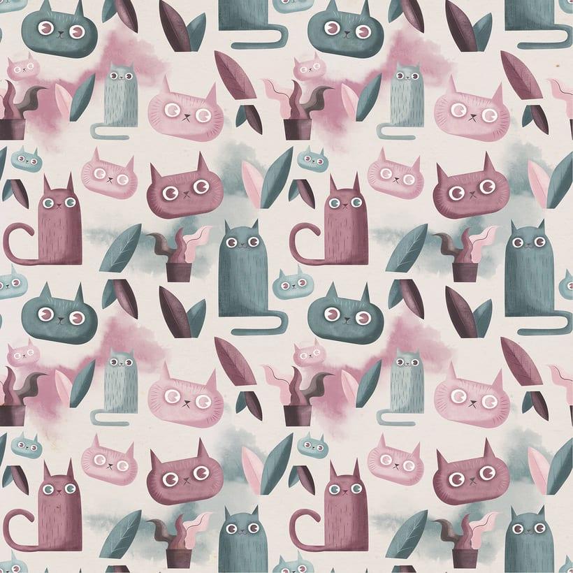 Diseño de pattern ilustrado. 1