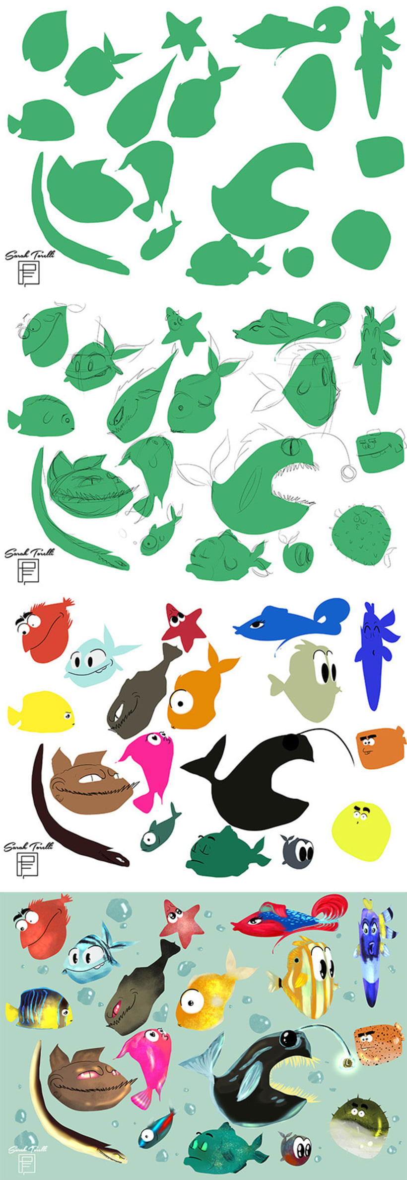 Character Design: colorfull fish 0