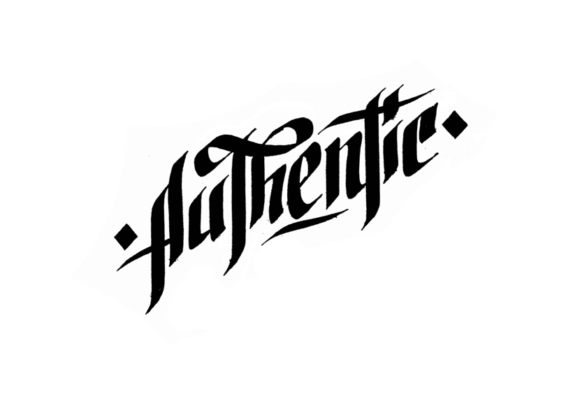 Lettering para remera | Authentic 2