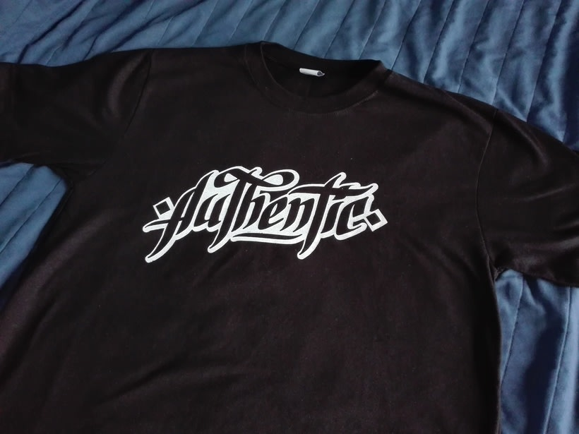 Lettering para remera | Authentic 6