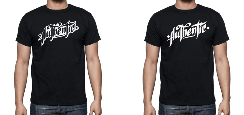 Lettering para remera | Authentic 5