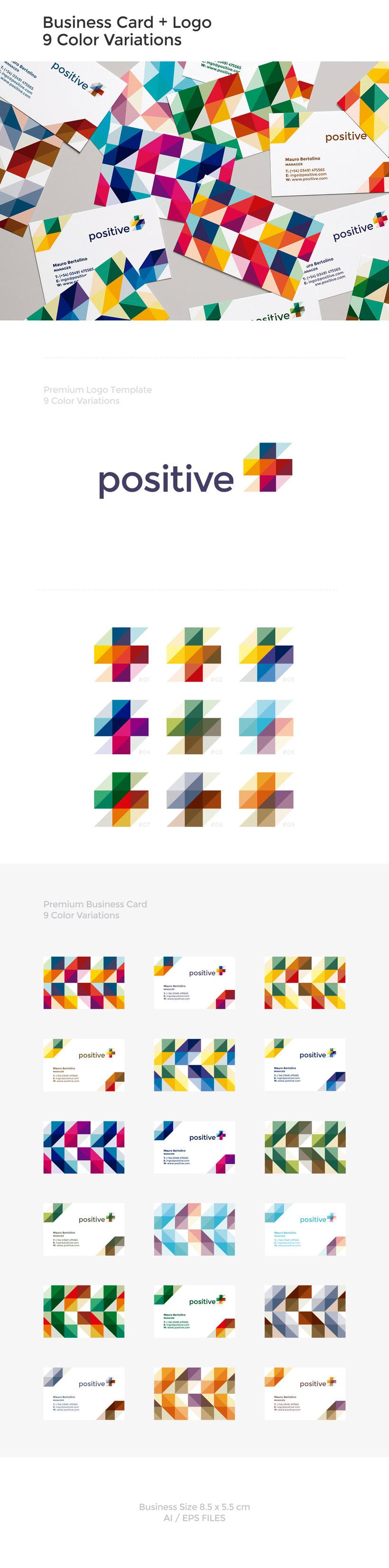 Positive - Logo Template y Tarjeta de Negocio -1