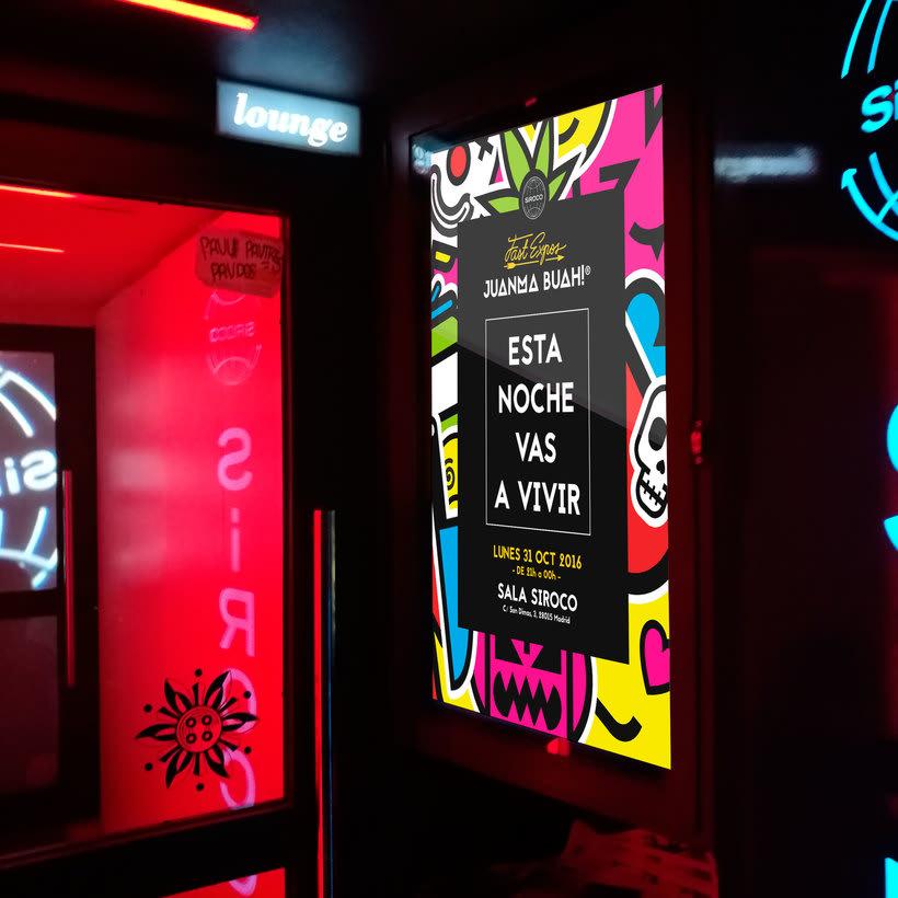"""Exhibition """"Esta Noche Vas a Vivir"""" at Sala Siroco 0"""
