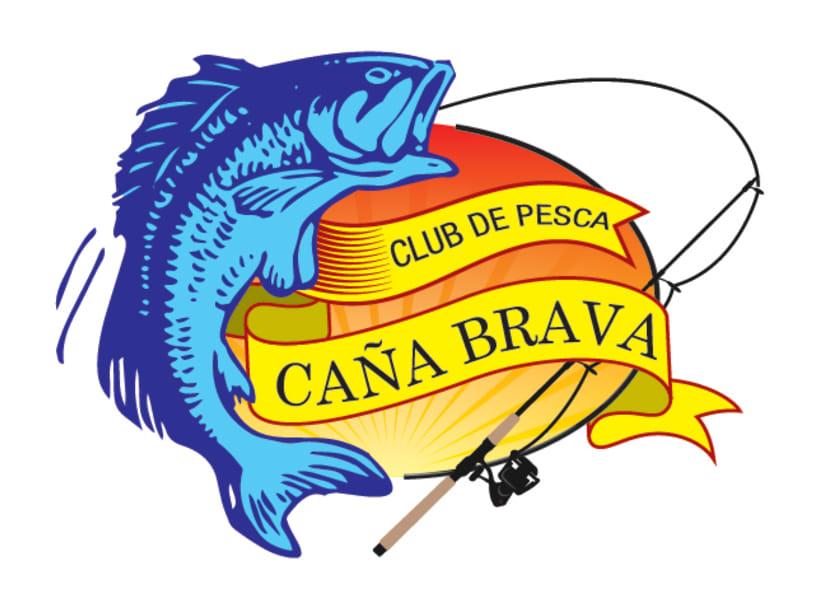 """Diseño del Logo para el Club de Pesca """"Caña Brava"""" -1"""