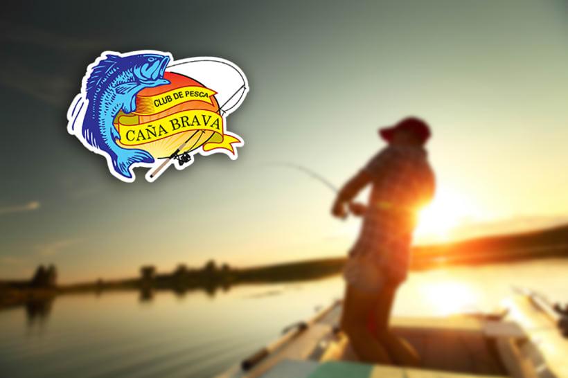 """Diseño del Logo para el Club de Pesca """"Caña Brava"""" 0"""