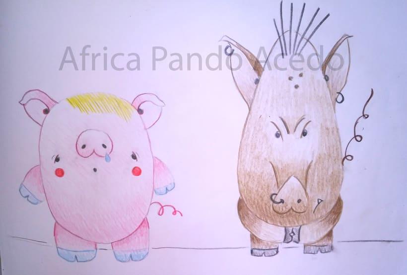 dibujos en grafito y lápices de colores 1