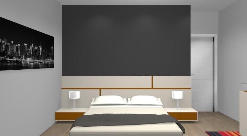 Distribución y decoración en dormitorio y salón 1