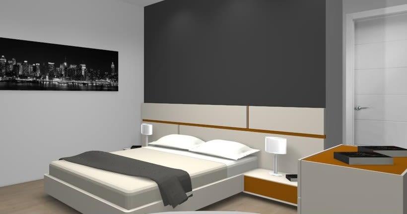 Distribución y decoración en dormitorio y salón 2