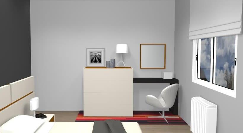 Distribución y decoración en dormitorio y salón 3