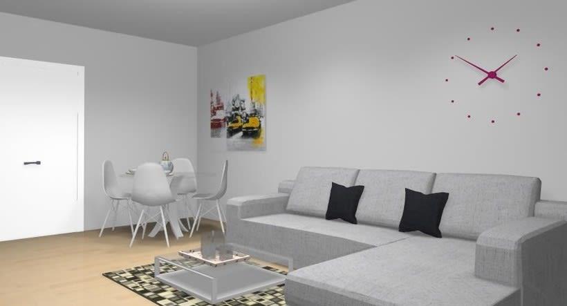 Distribución y decoración en dormitorio y salón 7