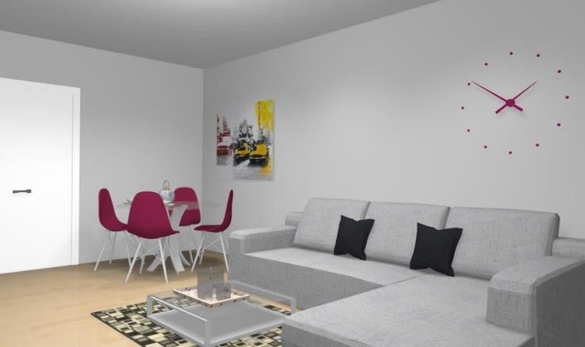 Distribución y decoración en dormitorio y salón 8